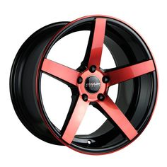 20in rims red and black | Trak-K Red Face with Black Windows Wheels - Traklite Wheels Wheels ...