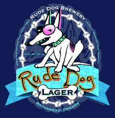 """Rude Dog Lager - """"Always quenching rude thirsts. Spade Tattoo, Dog Pounds, Dog Branding, Disney Characters, Fictional Characters, Snoopy, Animation, Dogs, Art"""