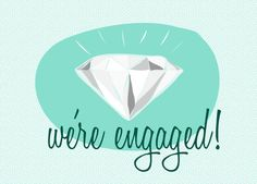 Retro Engagement Announcement / Invitation  by WhatPeggySaid, £6.00