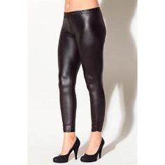 Legging effet mouillé noir femme KISS ME, Le legging qui s'adapte à tous les styles ! Taille élastique et effets froncés au bas des jambes...sur www.shopwiki.fr ! #legging #mode_femme #vetements #femme