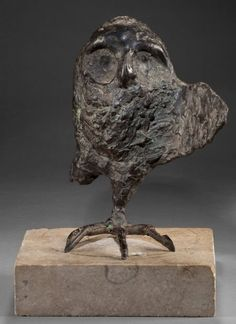 Leonard Baskin (American, 1922–2000) patinated bronze