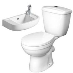 Demi close coupled wc and Express cloakroom basin