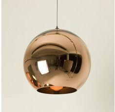 Tom Dixon Copper Gold Shade Mirror Glass Ball Ceiling Light Pendant Lighting