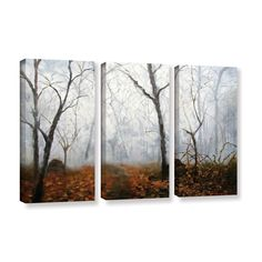 Autumn Mist by Marina Petro 3 Piece Painting Print on Gallery Wrapped Canvas Set