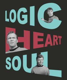 The Logic, Heart, and Soul of the Enterprise Star Trek Tv, Star Wars, My Sun And Stars, Love Stars, Trekking Quotes, Stark Trek, Star Trek Original Series, Starship Enterprise, Star Trek Universe