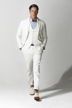 Summer weight suit - perfection! | Man pins | Pinterest | White ...