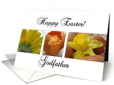 godfather happy easter - yellow spring flower easter collage card