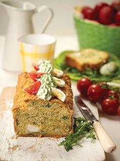 Ανοιξιάτικο κέικ με φρέσκα μυρωδικά και μους ανθότυρου - www.olivemagazine.gr Pastry Recipes, Greek Recipes, Types Of Food, Banana Bread, Herbs, Vegetables, Desserts, Pies, Tailgate Desserts