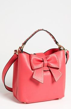 Betsey Johnson Hopeless Romantic Faux Leather Shoulder Bag available at #Nordstrom--  the decision was so hard!! the black or pink???? I went with the pink!! cant wait for it to get here