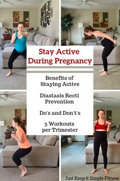 It's extremely important to stay active during pregnancy and this book will teach you why Prenatal Workout, Pregnancy Workout, Fit Pregnancy, Working Out While Pregnant, 30 Day Fitness, Home Exercise Routines, Diastasis Recti, 30 Day Workout Challenge, Healthy Lifestyle Changes