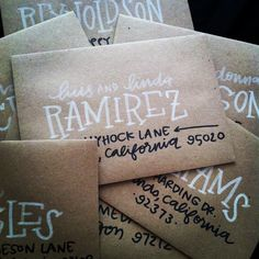 custom hand-lettering envelope addressing - email laurenishdesign@gmail.com for more info