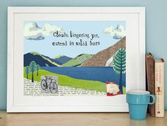 lake district art print by helena tyce designs | notonthehighstreet.com