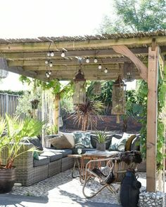 pergola design ideas and how to incorporate one into your garden design Diy Pergola, Outdoor Pergola, Wooden Pergola, Outdoor Rooms, Backyard Patio, Outdoor Living, Outdoor Decor, Pergola Ideas, Pergola Kits