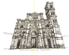 Florence Duomo, Firenze, Italy / sketch by Joungyeon, Bahk (Grid-A architecture) grid-a.net