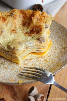 Lasagnes aux champignons et à la purée de butternut au basilic (4)