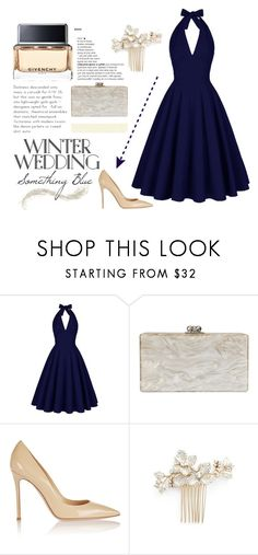 """""""Something Blue"""" by missmodel13 ❤ liked on Polyvore featuring Edie Parker, Gianvito Rossi, Wedding Belles New York and Givenchy"""