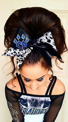 no poof cheer hair.....interpret how you will...