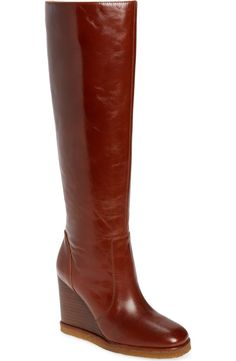 Knee High Wedge Boots, Wedge Heel Boots, Bootie Boots, Nordstrom Gifts, High Wedges, Jeffrey Campbell, Passion For Fashion, Shirt Style, Stitch