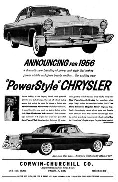 Chrysler newspaper ad from 1956...