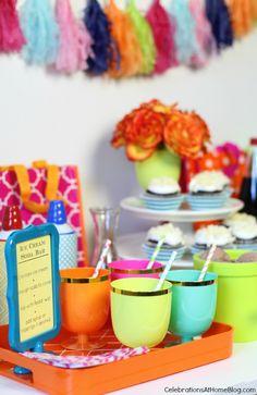 ice cream soda bar_birthday party ideas  / Celebrations At Home blog