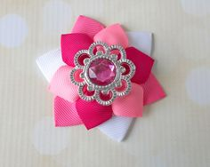 Gather your crafting supplies and join us for some fun on the blog! Layered Ribbon Flowers