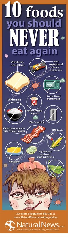 Infographic - Top 10 Foods to Never Eat Again