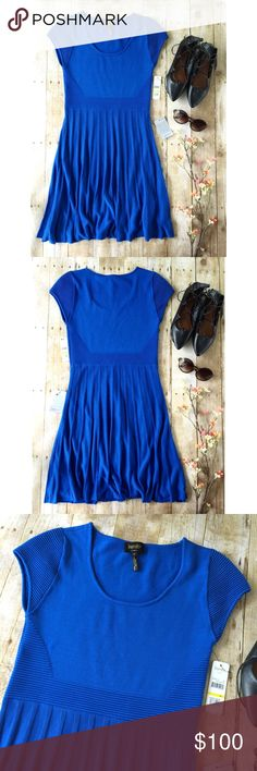 NWT Laundry Cobalt Blue Sweater Dress Gorgeous fit and flare dress in perfect condition. Laundry by Shelli Segal Dresses