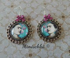 Boucles Frida Kahlo noeud rose bohème gypsy : Boucles d'oreille par mimischka