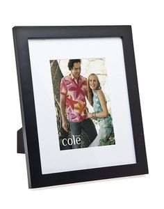11X13 With 8X10 Mat Black Wood Picture Frame, Set of 2