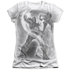 Masters Of The Universe/Skeletor B&W Short Sleeve Junior 65/35 Poly/ Crew in, Girl's