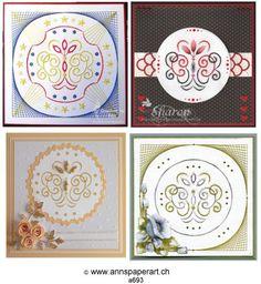 Stencilset mit Nellie's Stencilset] - - Anns Paper Art - The Art of Stitching Paper Art, Decorative Plates, Stitch, Pattern, Home Decor, Stencils, Papercraft, Full Stop, Stitches
