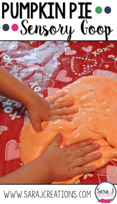 Pumpkin pie goop is sensory fun for kids of all ages! Perfect for the fall!(Fall Recipes Preschool) Pumpkin pie goop is sensory fun for kids of all ages! Perfect for the fall!