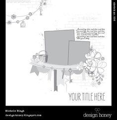 Layout: design honey sketch no. 006