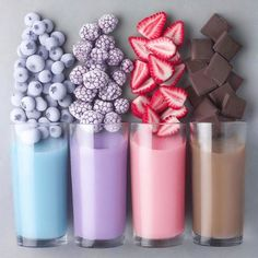 50 Of Juice and Milkshake Pictures in 50 Glasses All Look Amazingly Beautiful - Delicious Food Kids Yummy Smoothies, Yummy Drinks, Yummy Food, Smoothie Recipes, Chocolate Smoothies, Chocolate Strawberries, Breakfast Smoothies, Shake Recipes, Drink Recipes