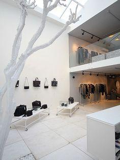 Alexandre Herchcovitch flagship store by Arkitito, São Paulo store design Showroom Design, Shop Interior Design, Boutique Interior, Design Garage, Shop Front Design, Retail Store Design, Retail Shop, Retail Displays, Visual Merchandising