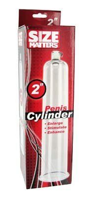 "Size Matters Penis Pump Cylinders - 2"" X 9"" by Size Matters. $24.36. Size: 2"" X 9"". Each cylinder contains a state-of-the-art air valve. Pump while maintaining pressure within the cylinder. Each cylinder is hand crafted and made of the finest, industrial strength crystal clear acrylics. The cylinders are tapered toward the top to match the natural anatomy of your penis for maximum comfort. No gaskets are required. Each cylinder contains a state-of-the-art air valve w..."