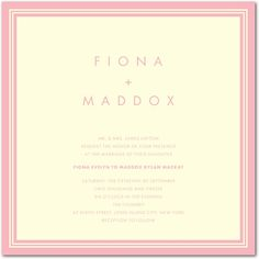 Letterpress Wedding Invitations - Chic Corners by Wedding Paper Divas