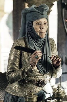 Lady Olenna Tyrell, the most badass granny ever (Dame Diana Rigg)