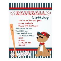 Home Run Doggie! Invitations by candystore