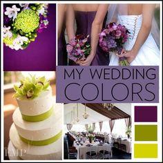 Green purple grey wedding colour scheme   dream wedding ...