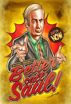 "Breaking Bad ""better call saul"" pop poster"