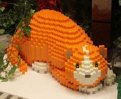 orange Lego cat