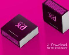 Adobe Xd Matchbox with Dubai font