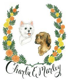 Custom Illustrated Pet Portraits by Lauren Moyer