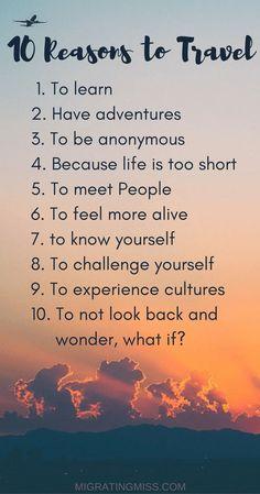 Why Do You #Travel? #TravelQuotes @migratingmiss com via @topupyourtrip