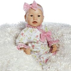Paradise Galleries Baby Doll That Looks Real, Baby Layla, 21 inch Vinyl, Weighted Body