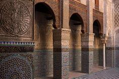 #Morocco Architecture Board, Islamic Architecture, Architecture Details, Fez Morocco, Alleyway, Oriental Pattern, Photo Essay, Mosaic Tiles, Mosaics