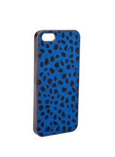 Shop Prima Donna - Call Me Maybe Cheetah Print iPhone Case Blue