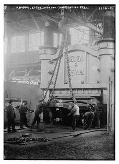 Krupp's, Essen -- 10,000 ton bending press (LOC) by The Library of Congress, via Flickr