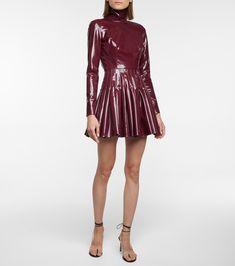 Alex Perry, Mock Neck, Pleated Skirt, Burgundy, Luxury Fashion, Mini, Skirts, Shopping, Dresses